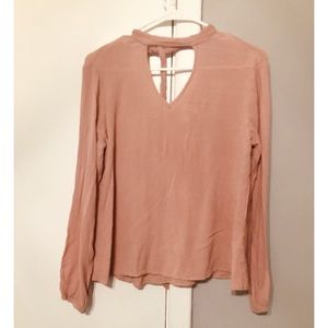 Tops - Pale pink Truth NYC long sleeve blouse
